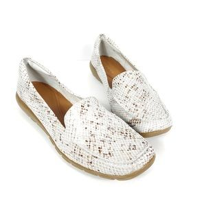 EASY SPIRIT Snakeskin Style Slip On Loafers Size 9